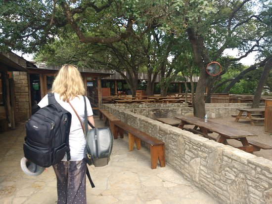 Driftwood, TX: Entrance to the Restaurant