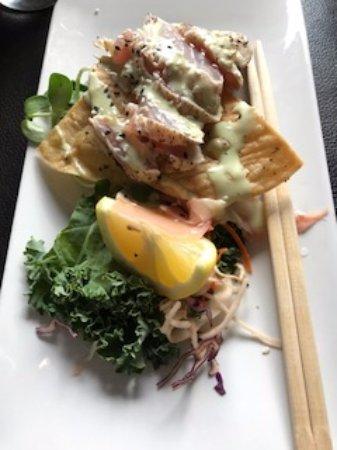 Tuna Ahi Appetizer, Union Street Grill 477 5th St, Courtenay, British Columbia