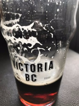 Victoria BC Beer glass, Union Street Grill 477 5th St, Courtenay, British Columbia