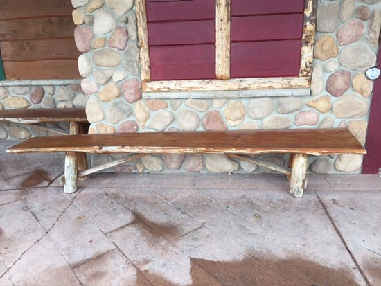 Groovy Rustic Live Edge Benches Outside Montanas Bbq Bar 665 Pdpeps Interior Chair Design Pdpepsorg
