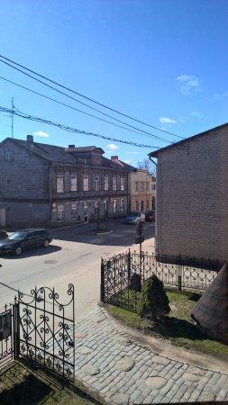 Tukums, Lettonia: Utsikt från andra våningen