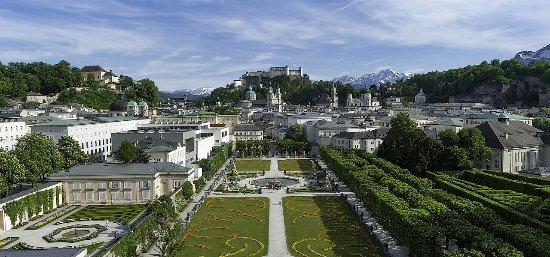 Австрия: Придворный сад Дворца Мирабель, Зальцбург
