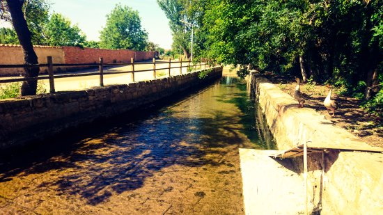 Monreal del Campo, España: Water canal that was used for the mill.