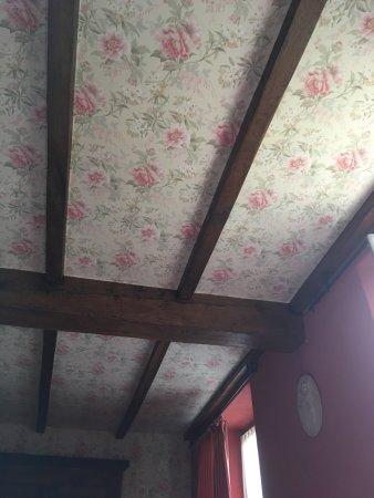 Castagnea, Italia: soffitto della stanza