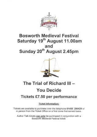 Sutton Cheney, UK: Richard III Trial Poster