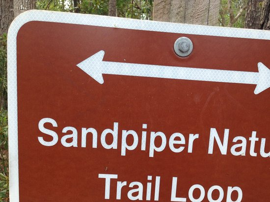 Skidaway Island State Park: Trail sign