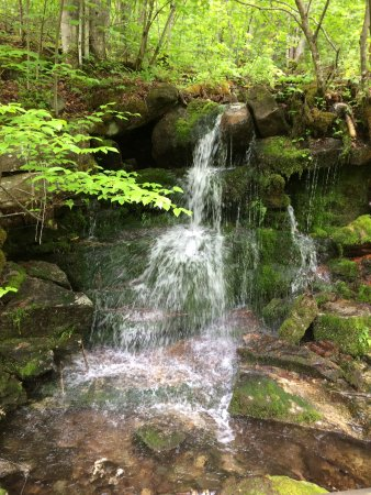 Gorham, NH: several small waterfall view along the trail