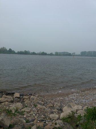 Monheim am Rhein, Tyskland: Rheinufer