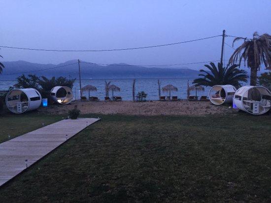 Aigio, Grecia: View from the terrace.