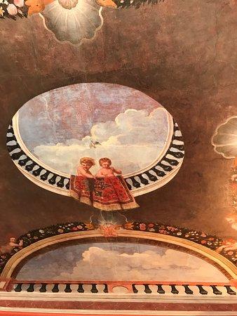Trompe L Oeil Malerei trompe l oeil malerei an der schlafzimmer decke picture of schloss