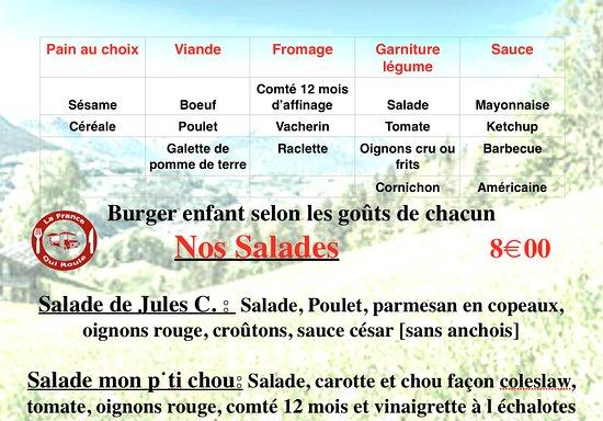 Douvaine, Prancis: burger enfant et salade de saison