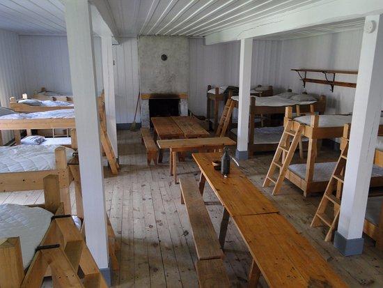 Temiscouata-sur-le-Lac, Canada: Dortoir style militaire 19e siècle