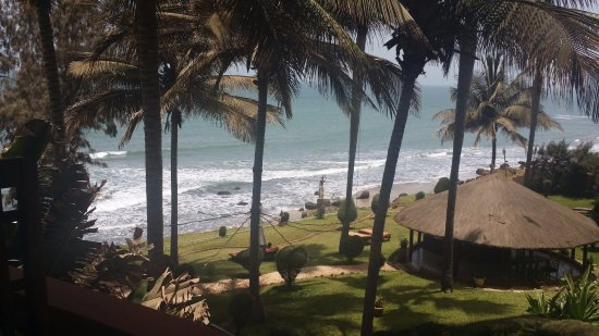 Fajara, Gambia: The view from the restaurant