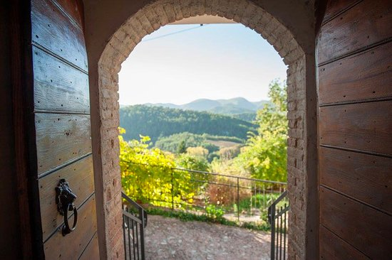 View from the Lions Gate  at Farmhouse and Painting Retreat La Locanda del Tempo, Spoleto, Italy