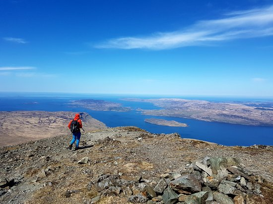 Summit of Ben More on Isle of Mull