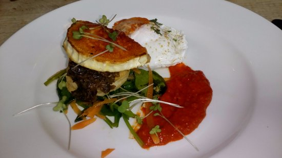 The Ambrette Canterbury: Wild mushroom, spinach and goat's cheese vol-au-vent
