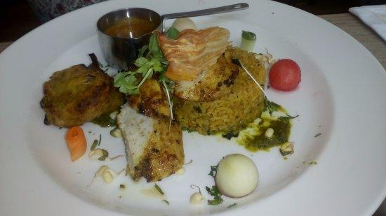 The Ambrette Canterbury: Tender chicken biryani, mango chutney