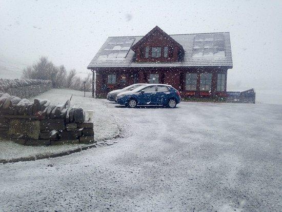 Orphir, UK: Westrow in the snow