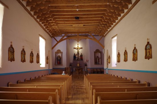 Interior of the Old San Miguel Mission