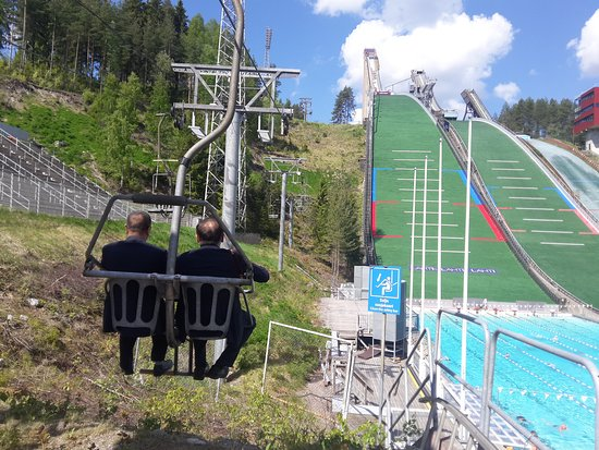 Lahti Sports Center: The best ski jump tower in the world.You can take a lift go up ski jump tower. Open air swimming