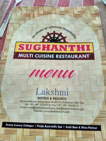 Menu Card Picture Of Lakshmi Hotel And Resorts Restaurant