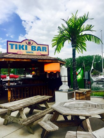 Finger Lakes Water Adventures: Tiki Bar North is on the marina property - pull up your boat and have a drink