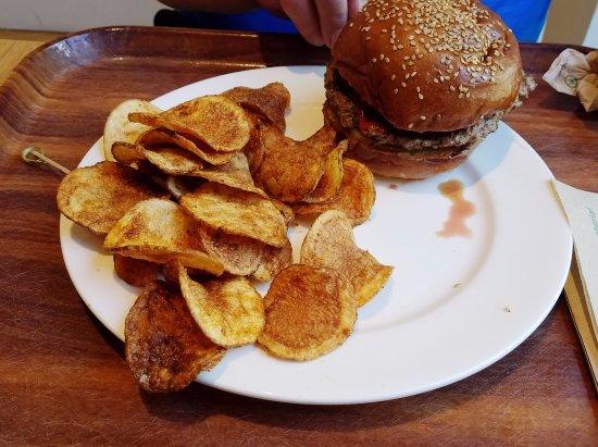 Lamb Burger With Chips