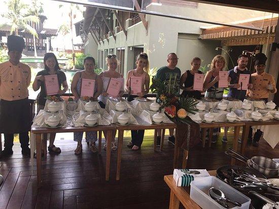 Mai Samui Resort & Spa: Certificates/cook books at the end