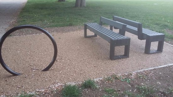 Enfield, UK: New feature in the park.