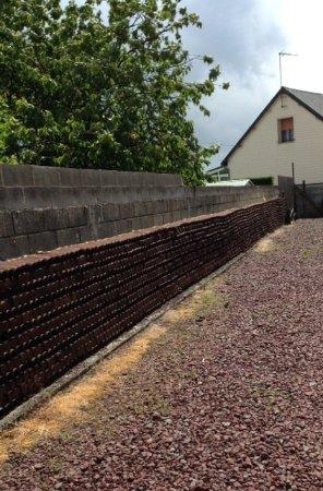Pozieres, Fransa: Mur de douilles d'obus