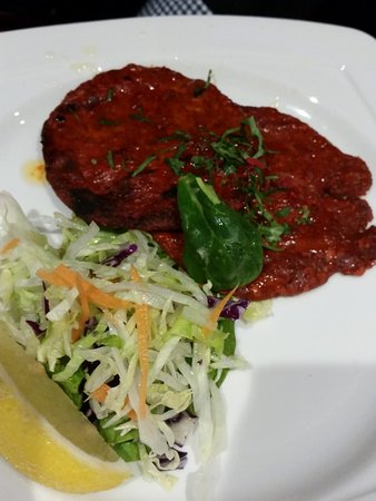 Aston Clinton, UK: Lamb patty spicy