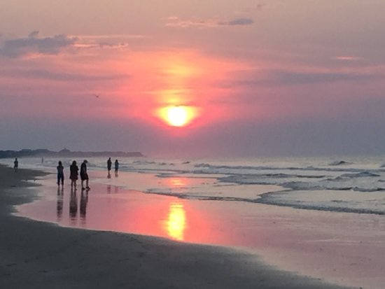 Sunrise At Isle Of Palms Beach The Pier