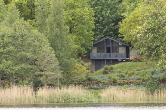 Loch Monzievaird Self Catering Lodges : lodge 11 from the far side of the loch