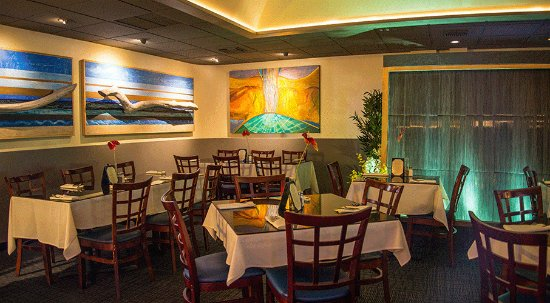 Bistro Casanova: The artsy intyerior: The Alelele room is a favorite for private events.