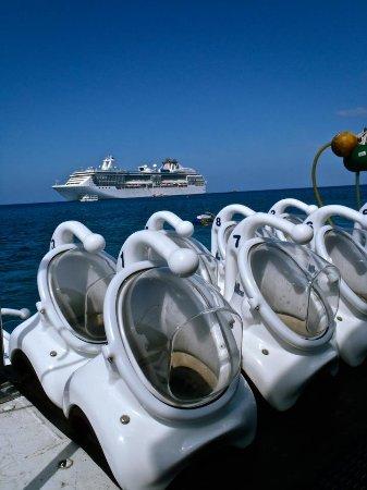 George Town, Grand Cayman: Our SeaTrek Helmets