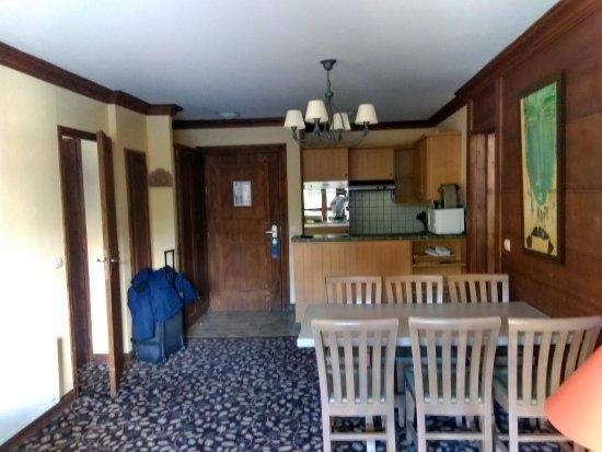 Radisson Blu Resort, Arc 1950: salón del apartamento