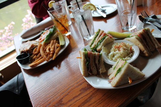 Foxburg, PA: Club Sandwich and Burger