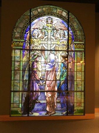 Corning, NY: Beautiful glass window
