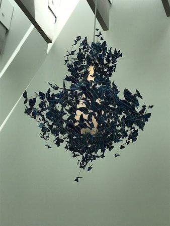 Corning, NY: Butterfly chandelier