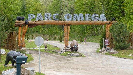 Montebello, Kanada: Parc Omega Eingang