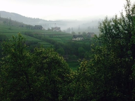 Slavs'ke, Ukraine: View from our cabin