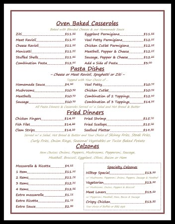 Terryville, CT: Menu Page 2