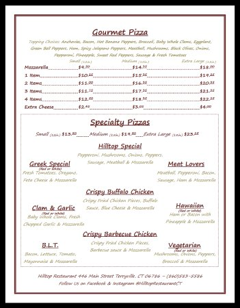 Terryville, CT: Menu Page 3