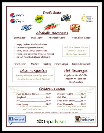 Terryville, CT: Menu Page 4