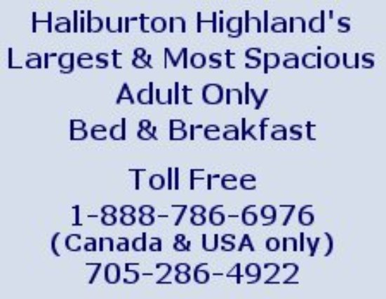 Minden, Canadá: Contact information for Sunny Rock Bed and Breakfast