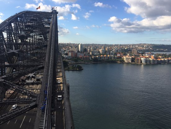 Pylon Lookout at Sydney Harbour Bridge: nearly the same height as the bridge