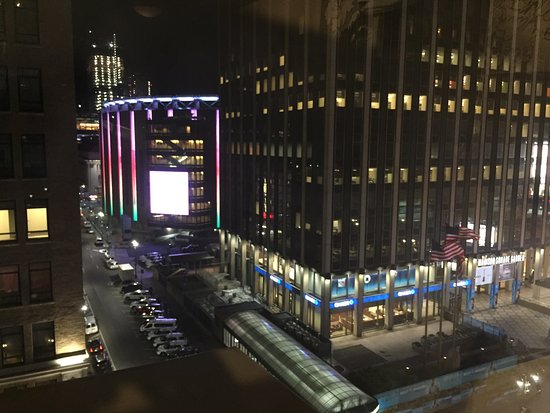 Street view from one side of room 910 Madison square garden 910