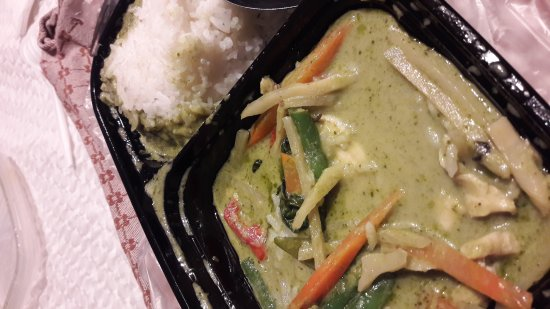 Thai House Geary Street: take away green curry