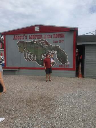 Noank, CT: Abbott's lobster sign