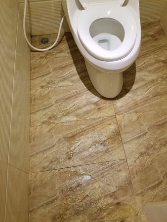 Thunderbird Resorts & Casinos - Poro Point: Flood in the bathroom